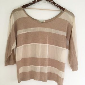 Lucca Couture Tops - Lucca Couture Scoop 3/4 Tan Top