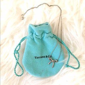 Tiffany Bow Pendant Necklace Tiffany Silver Bow