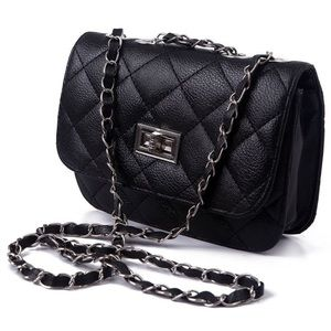 HDE Quilted Leather Crossbody