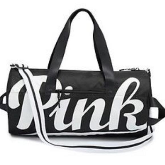 0b7d5db3f54 PINK Victoria s Secret Bags   New Victoria Secret Pink Black Duffle ...