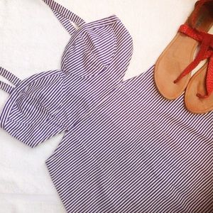 UO  Nautical Striped Pinup Cutout Dress