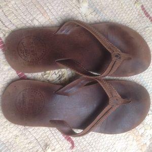 Reef Shoes - Leather REEF flip flops