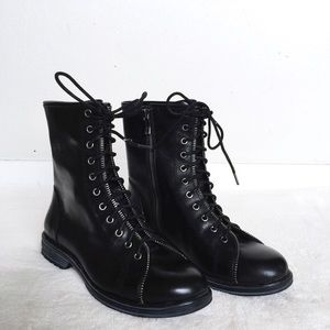 ⚫️BLACKFRIDAY SALE⚫️Black zipper combat boots