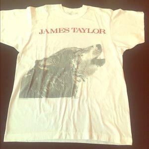 Paper Thin Vintage James Taylor Concert Tee 1987