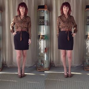 CHANEL Dresses & Skirts - BROWN BOUCLE CHANEL PENCIL SKIRT