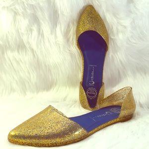 Jeffrey Campbell Shoes - Jeffrey Campbell Jelly Love Flats Size 9