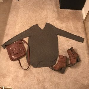 Rebellious One Sweaters - Side Slit Sweater