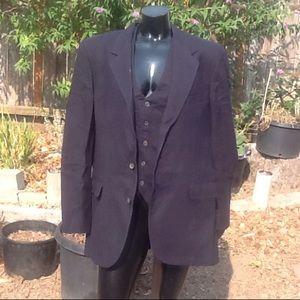"""Other - Vintage Bill Blass suit coat&vest 23"""" across X 32"""""""