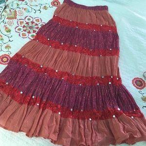 Boston Proper Dresses & Skirts - Boston Proper tiered Boho maxi skirt