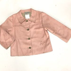 Ikks Other - Pink Suede French Boutique Jacket