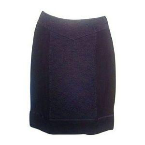 J. Mendel Dresses & Skirts - J. MENDEL Black Embroidery Overlay Pencil Skirt