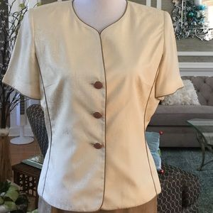 Adrianna Papell Jackets & Blazers - 100% Silk Adrianna Papell Short Sleeve Jacket