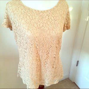 Emma James Tops - Tan lace shell 💋
