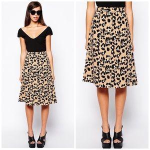 NWT ASOS Glamorous Leopard Midi Skirt