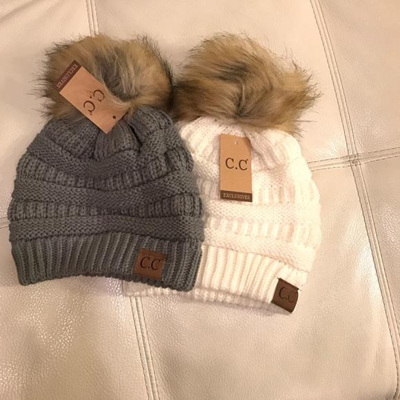 c400d44557c Accessories - 2x C.C winter hats with Pom