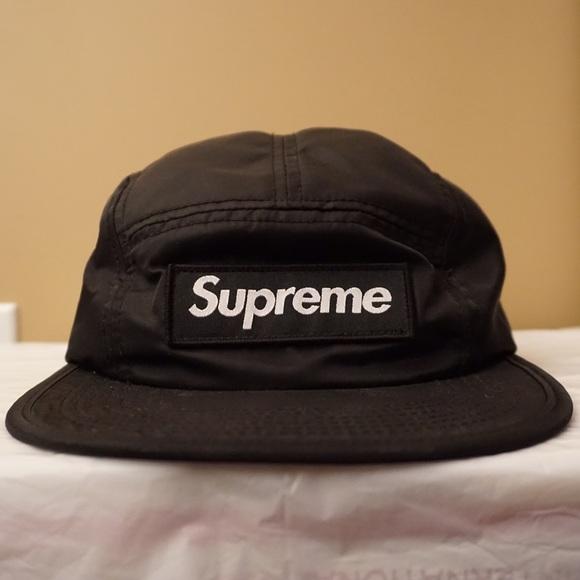 9f646e23803 Supreme camp cap satin black new with tags