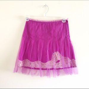 Rodarte Dresses & Skirts - RODARTE x TARGET Orchid Purple Tulle Lace Skirt