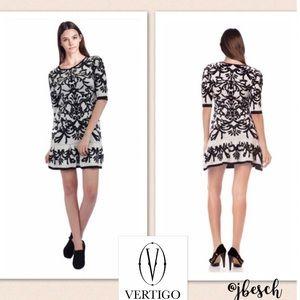 Vertigo Paris Dresses & Skirts - Vertigo Jacquard Sweater Dress