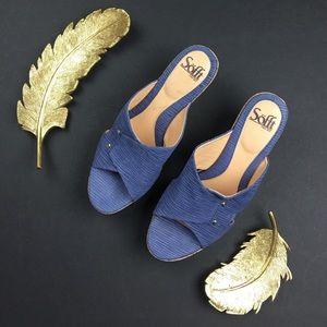 Sofft Women's Sancia Sandals in Denim Blue Bamboo