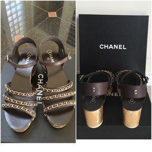 Brand new Chanel chain sandals