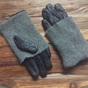 NWOT Leather Sweater Gloves