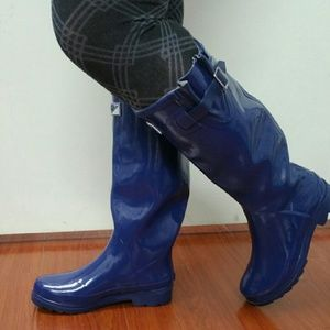 Forever Young  Shoes - Women Knee high Rainboots, #3106, Navy