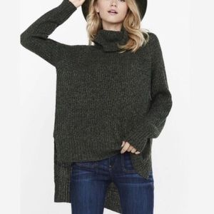 Express Sweaters - High-Low Cowl Sweater