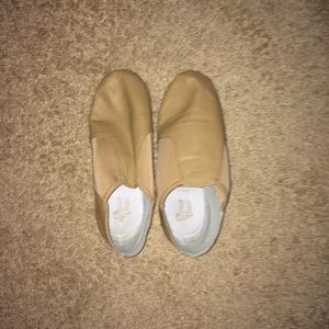 Dance Class Shoes - Tan Jazz Dance Shoes