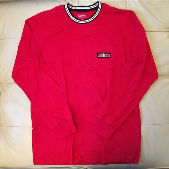 c21474d91d4c Supreme Shirts   Flag Ls Pocket Tee Red Medium   Poshmark