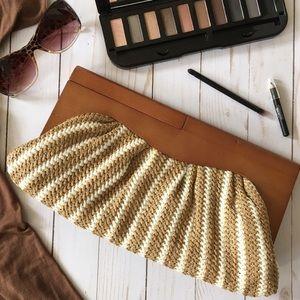 Urban Expressions Handbags - Wood & woven clutch