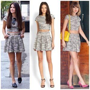Alice + Olivia Dresses & Skirts - Alice + Olivia Tweed Pleated Mini Skirt