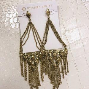 Kendra Scott Brass Mandy Chandelier Earrings