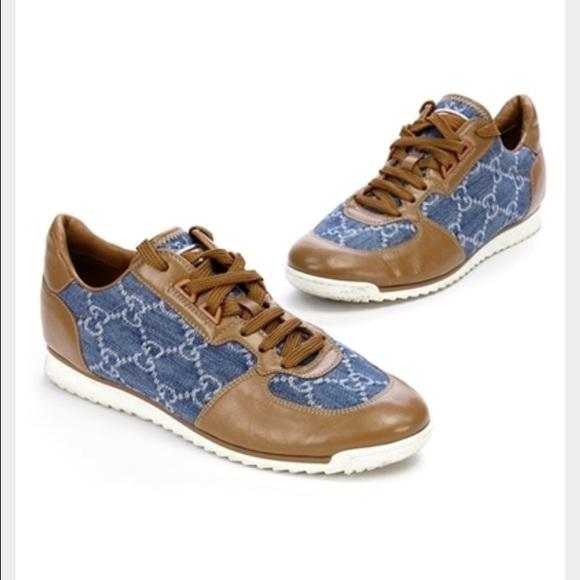 Gucci Shoes | Gucci Gg Denim Sneakers