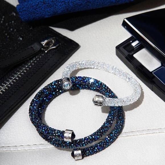 Clear White Swarovski CrystalDust Cuff Bracelet ccde8ae652ff