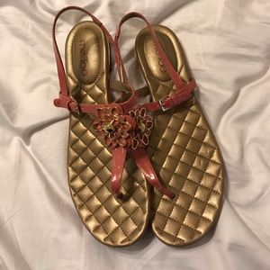 me too Shoes - Pink and Gold Sandals