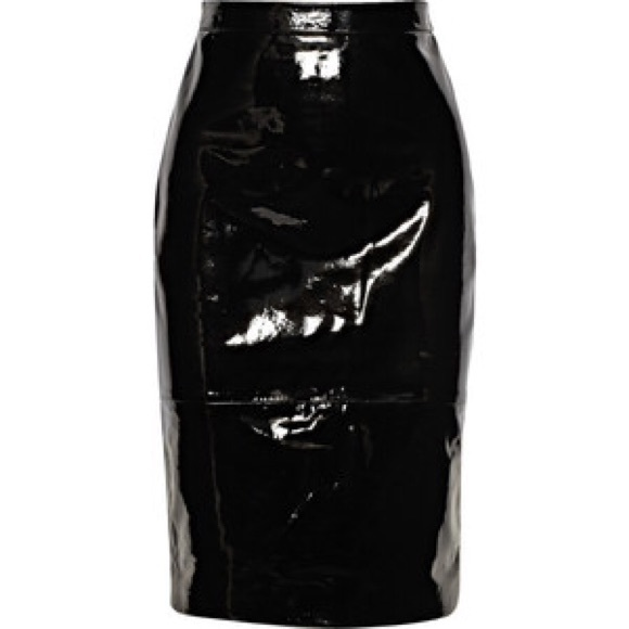 90% off Escada Dresses & Skirts - Escada Patent Leather Skirt from ...