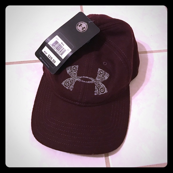 Under Armour Burgundy Baseball Hat 3138aed04ee