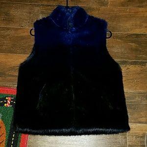 Jackets & Blazers - Blue ombre fuzzy vest