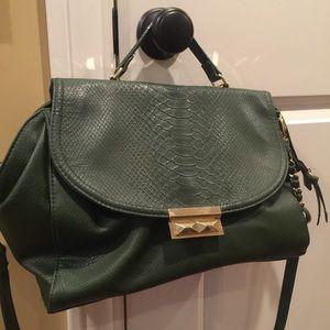 Olivia + Joy Handbags - Green structured structured handbag