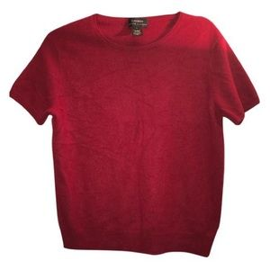 Lauren Ralph Lauren Tops - Lauren Ralph Lauren Cashmere red short sleeve L