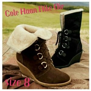 Cole Haan Nike Air Lace-up Michelle Shearling Boot