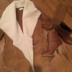 Sale! Shearling detailed knit. Snuggly and cute!