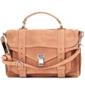 Proenza Schouler Handbags - PROENZA SCHOULER PS1 MEDIUM SATCHEL SUEDE IN DUNE