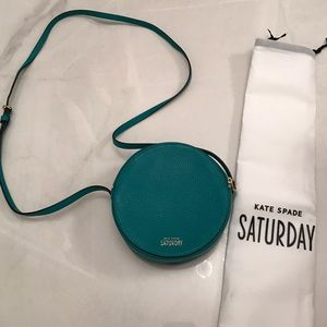 NEW Teal Kate Spade Crossbody Round Saturday