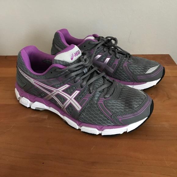 WOMENS ASICS GEL Forte Size 11 Gray Purple Running Walking