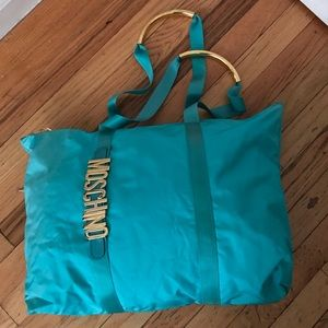 Moschino Handbags - vintage MOSCHINO Redwall Turquoise overnight bag