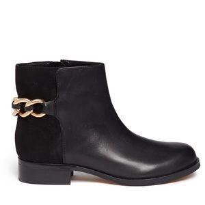 Sam Edelman Shoes - Sam Edelman Chain Suede & Leather Chester Boots