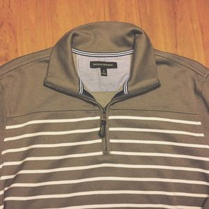 Banana Republic Sweaters - Grey stripe Banana Republic pullover sweater