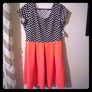 Charlotte Russe chevron dress