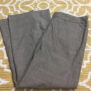 NWOT - Brown/Cream/Raspberry Plaid GAP Trouser